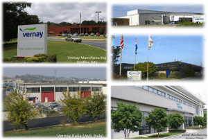 worldwide Vernay manufacturing facilities
