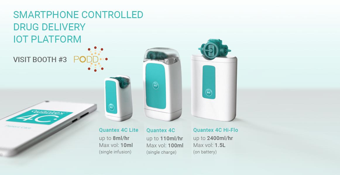 Quantex Arc 4C Drug Delivery Devices Mockup