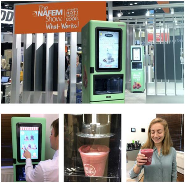 Quantex Arc Fresh Blends Collage NAFEM show drink dispenser