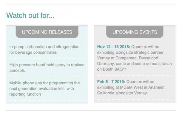 Quantex Arc watch out got product releases and upcoming events