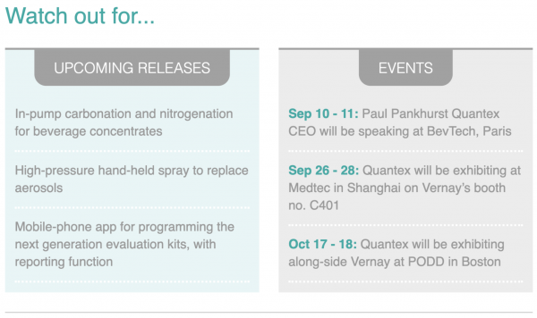 Quantex Arc watch out for product releases and upcoming events